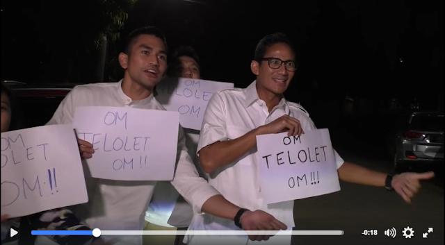 Pasangan Cagub Cawagub, Pak Anies dan Pak Sandiaga Uno pun meramaikan Telolet
