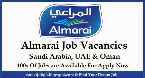 Latest Jobs In Almarai Dairy Food Company