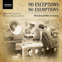 No Exceptions, No Exemptions - Great War Songs - Robin Tritschler