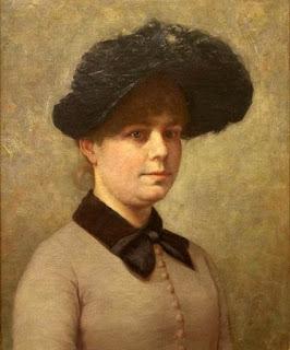Portrait of Mary Ethell Gertrude Walker  - Джон Оттис Адамс (John Ottis Adams)