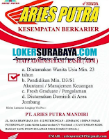 Open Recruitment at PT. Aries Putra Mandiri Jombang Maret 2020