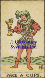 Page of Cups | US Games Systems Ltd | Tarot Thrones
