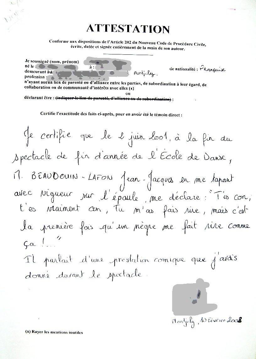 Modele Lettre Temoignage Bon Pere Adacosta
