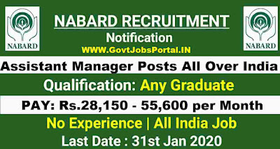 NABARD 154 Assistant Manager Recruitment 2020  Bank Jobs in India 2020
