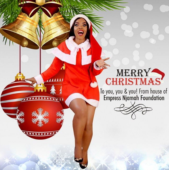 as her annual tradition is nollywood actress empress njamah has released her official 2016 christmas cards