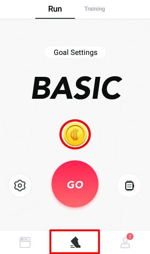 Anda bisa menyelesaikan misi ini pada ikon Sepatu kemudian tekan logo coins yang berwarna emas.