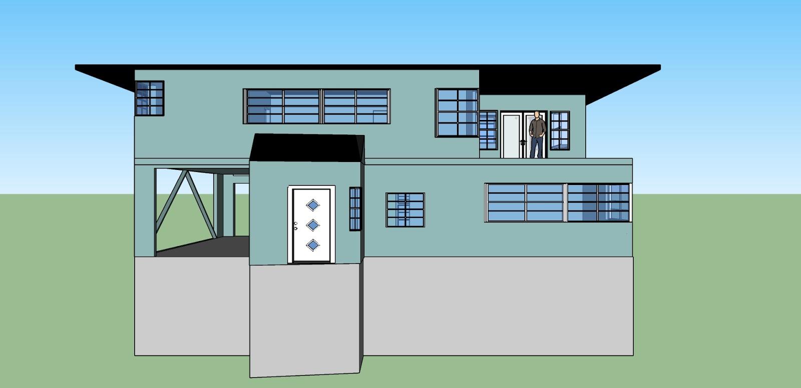 Two-story House (Sketchup) | lambency Interiors