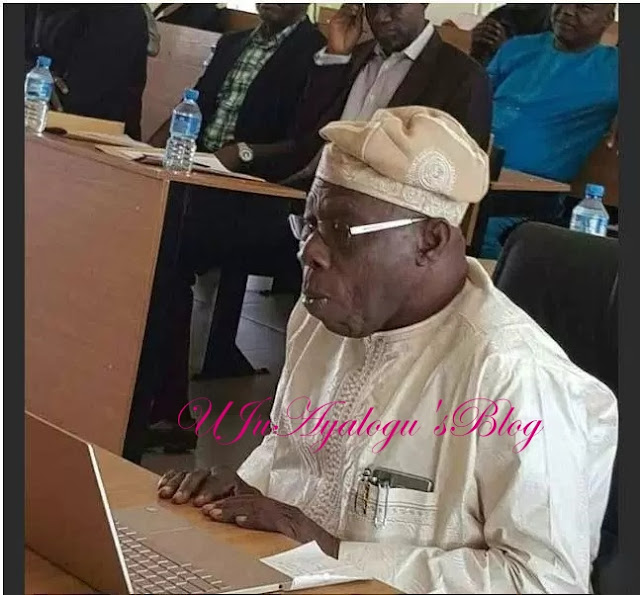 Former president defends his PhD thesis at NOUN [Photos]