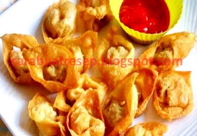 Foto Resep Pangsit Goreng Renyah Crispy Aneka Isi Daging Ayam Sederhana Spesial Asli Enak