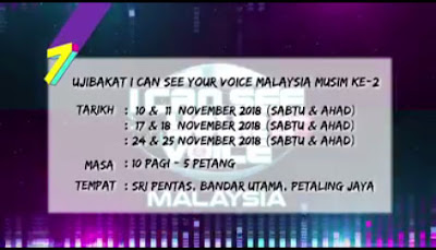 Tarikh Audition I Can See Your Voice Malaysia 2019