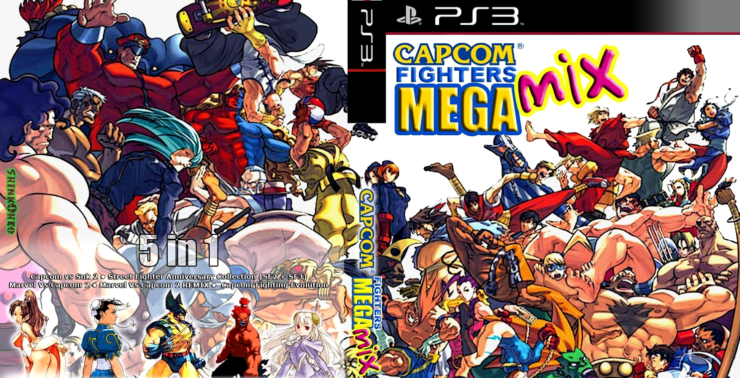 GAMES AND GAMERS: CAPCOM FIGHTERS MEGAMIX PS3/PS2 DOWNLOAD