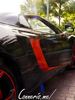 McLaren 12C Side Scoop Rear Detail