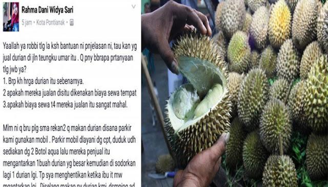 Aduh, Makan 2 Buah Durian, Wanita Ini Kaget Bayar Rp 700 Ribu