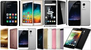 Xiaomi Mi Note Pro, OnePlus X, Meizu Pro 5, Huawei Mate 8, Meizu Pro 6, Huawei P9 dan P9 Plus, OnePlus 2, Xiaomi Mi 5 Pro