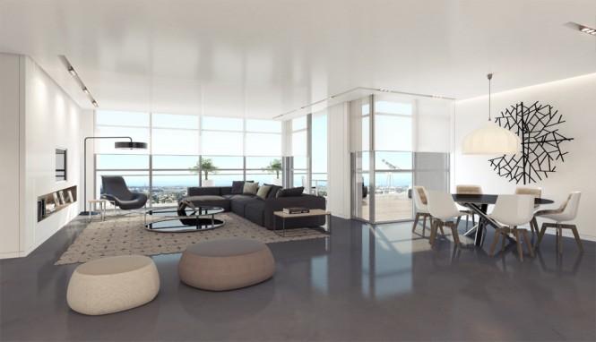 Hogares frescos dise o de interiores apartamento de - Apartment interior design ideas ...