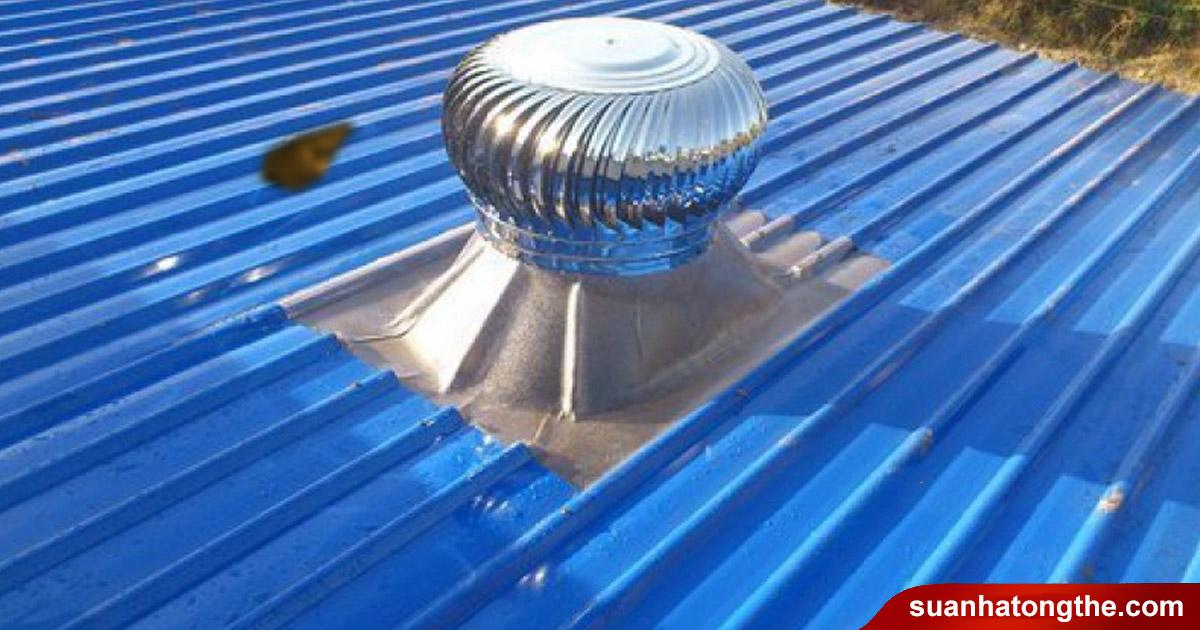 Cách chống ngập nước vào nhà Chắn lỗ thông gió