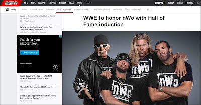 ESPN Reports New World Order For 2020 WWE Hall of Fame
