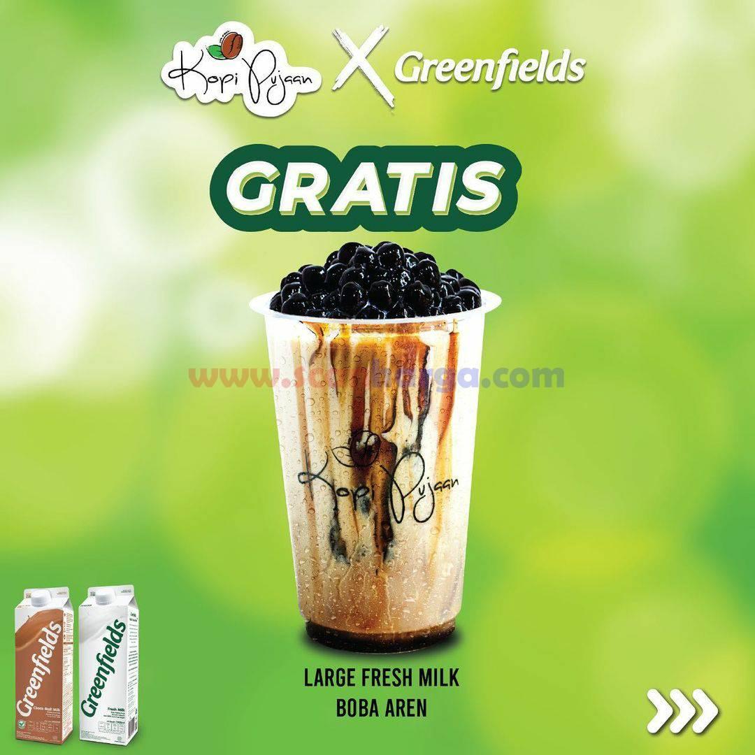 KOPI PUJAAN X GREENFIELD Promo GRATIS Minuman
