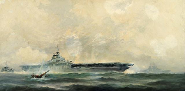 Battle of Midway painting, 3 June 1942 worldwartwo.filminspector.com