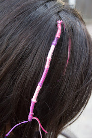 how to do easy DIY hair wraps with kids  (such a fun playdate or party idea)