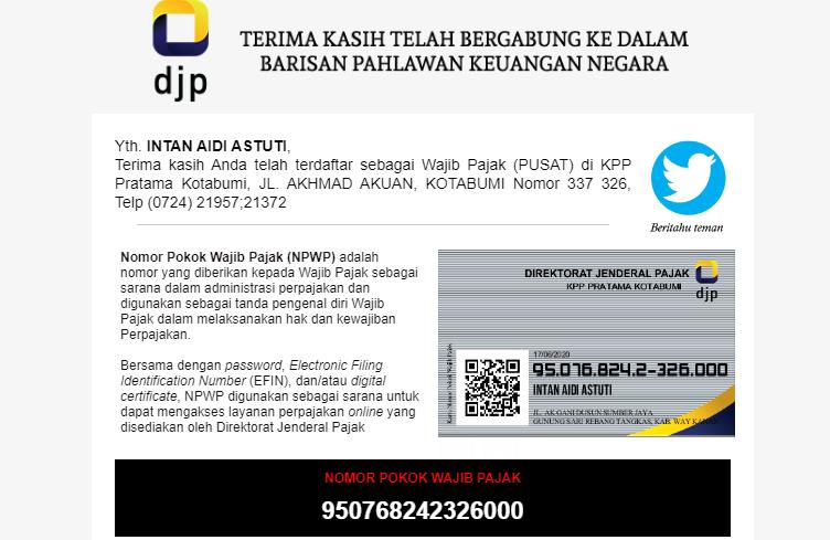 Cara Pendaftaran NPWP Secara Online