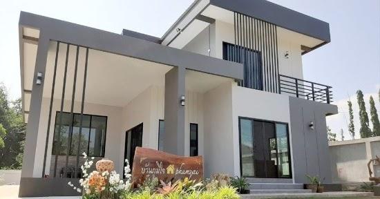 Lingkar Warna 23 Desain Rumah Modern 3 Kamar Tidur 2 Lantai