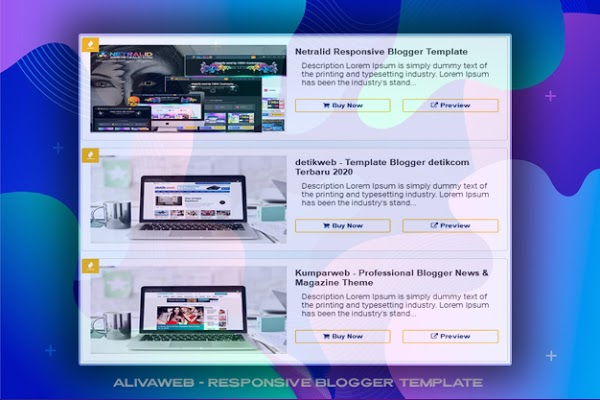 Aliva Web - Responsive Blogger Template