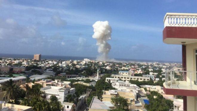 Blasts heard near Mogadishu airport