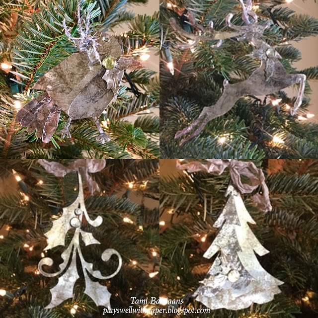 Plays Well With Paper Faux Mercury Glass Christmas Ornaments