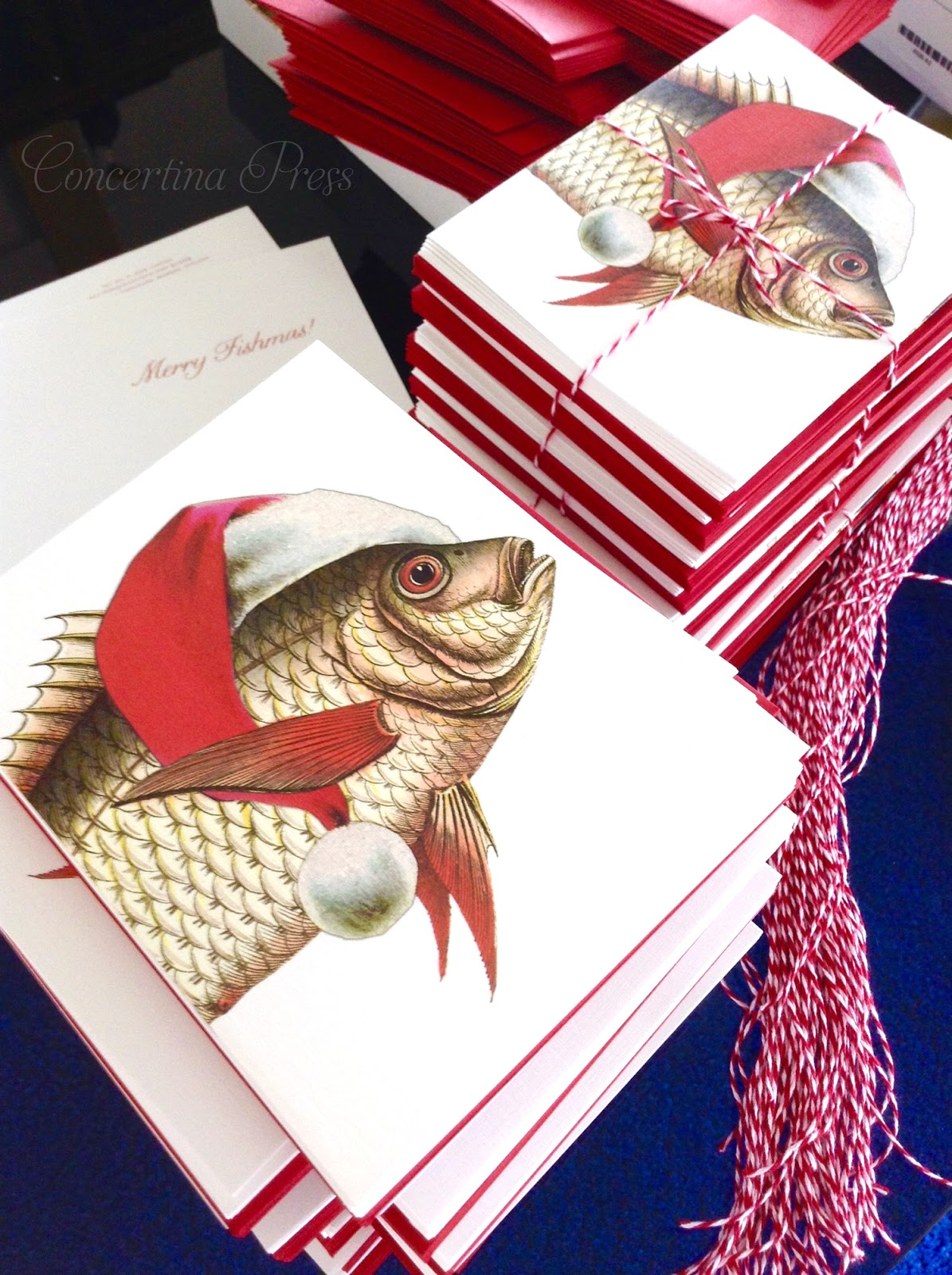 Fish Christmas Cards for a Beach Christmas made in the USA