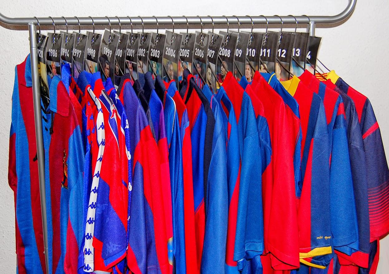 Todas las camisetas del F.C Barcelona de la historia ...