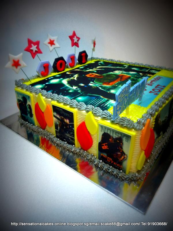 Atom Real Steel Birthday Cake
