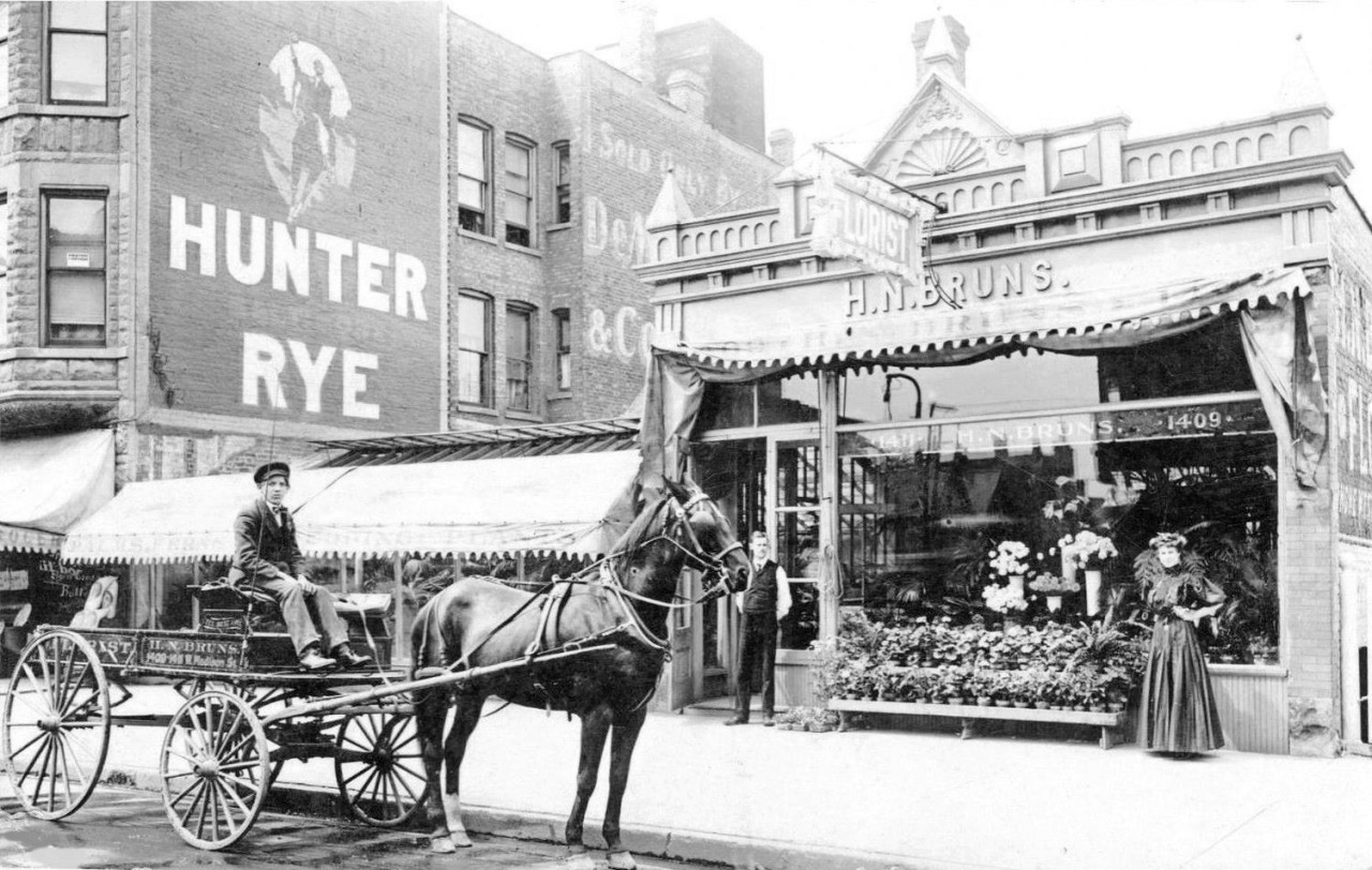 The Digital Research Library of Illinois History Journal™: H. N. Bruns Florist, 1409 W Madison ...