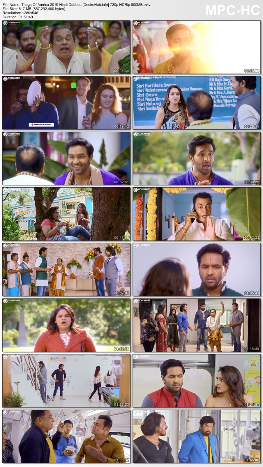 Thugs Of Amrica 2019 Hindi Dubbed 720p HDRip 800MB Desirehub