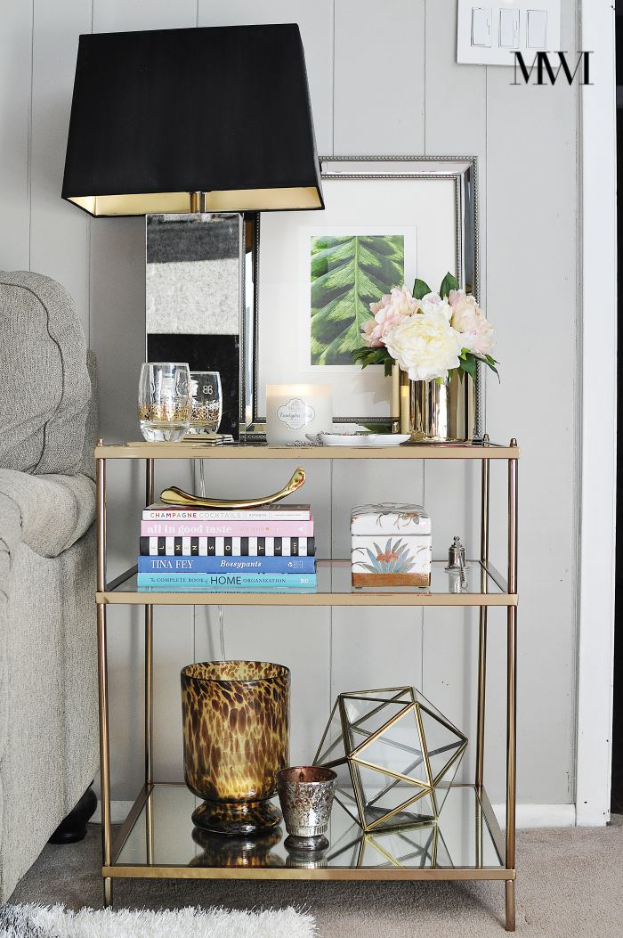 Learn about 5 must have decor items to make any end table perfectly styled and functional via monicawantsit.com