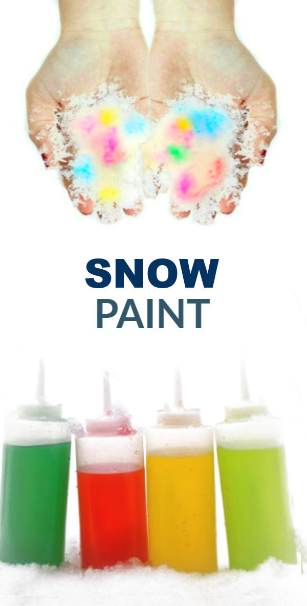 SQUIRTY SNOW PAINT - my kids love this stuff!  (only 2 ingredients!) #snowpaint #snowpainting #snowpaintforkids #snowpaintrecipe #squirtysnowpaint  #paintthesnow #snowplay #snowplayrecipe
