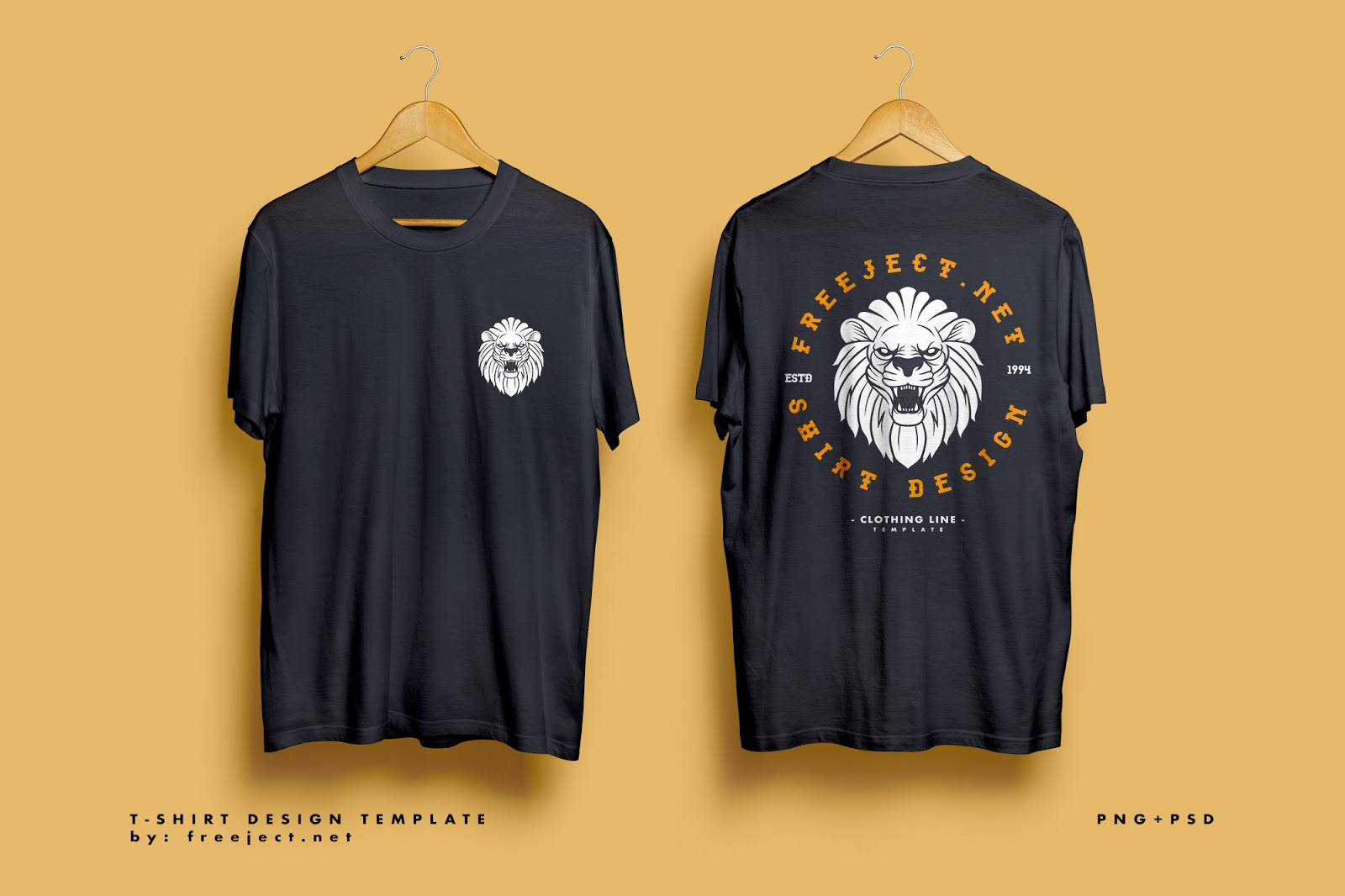 Lion Badge Retro Design Free Download T Shirt Design Template Psd File