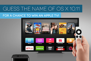 WIN AN APPLE TV Giceaway