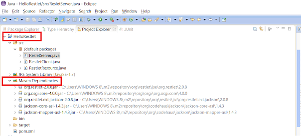 Restlet HelloWorld Example in Java and Eclipse