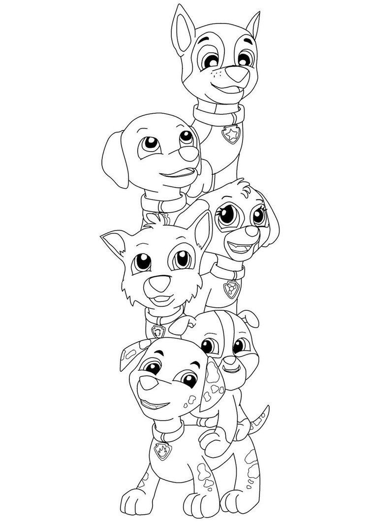 Paw Patrol Coloring Pages Of The