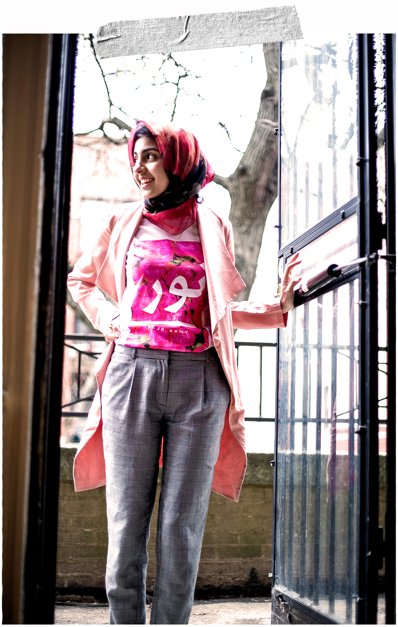 Noor shirt, arabic shirt, fashion blog, arabic fashion blog, hijab, hijab fashion blog, floral hijab, muslim shirt