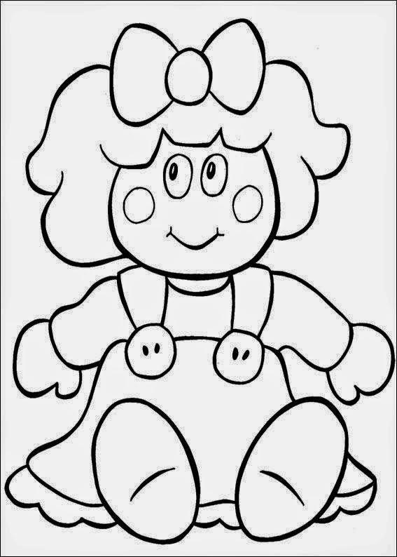 Desenhos De Bonecas Para Colorir E Imprimir Moldes De Feltro