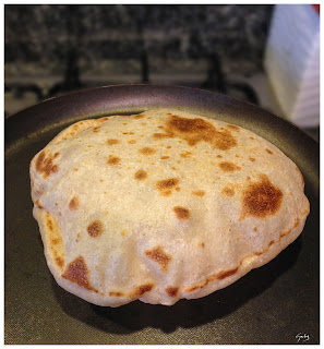 naan cotto in padella