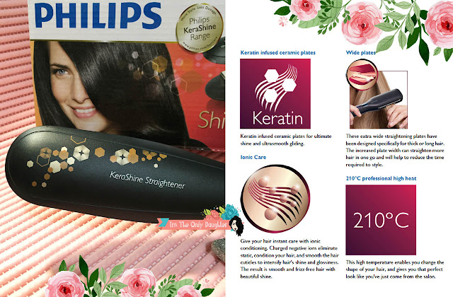 Philips KeraShine Straightener with Keratin, Ion condition, Less Damage for Best Healthy and Shiny Result