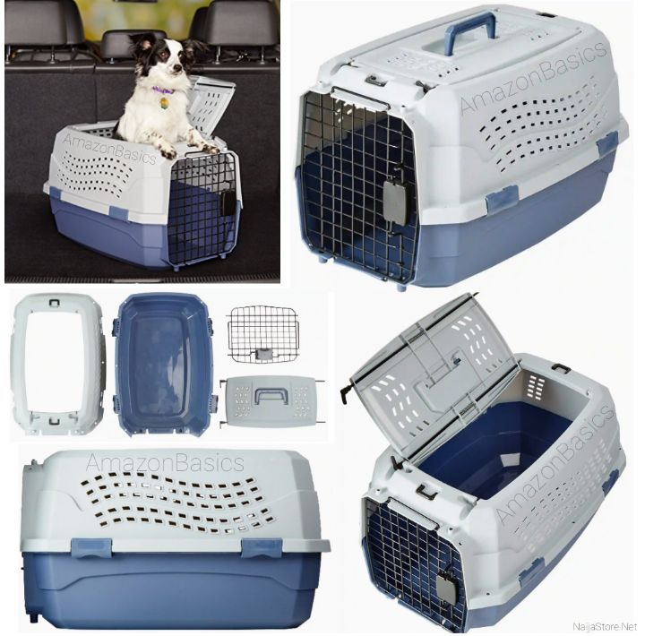 Dog/Cat Carrier with Handle and Door Openings - Portable Mobile Kennel for Pet Dogs and Cats