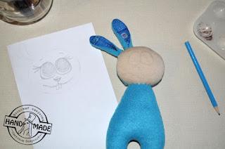 мягкая игрушка заяц из флиса