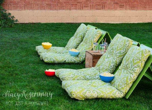 asientos, bricolaje, jardin, hamacas con puertas,