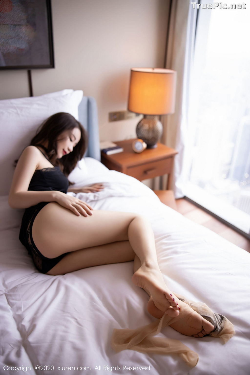 Image XIUREN No.2620 - Chinese Model - 绯月樱-Cherry - Sexy and Mysterious Black - TruePic.net - Picture-9