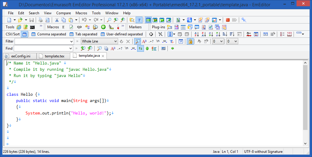 EmEditor Professional v20.1.3 - Trình soạn thảo html