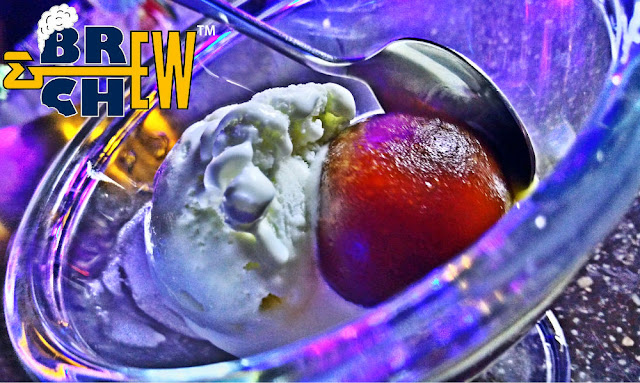 Underdoggs Sports Bar and Grill, Bangalore | Rum Gulab Jamun with ice cream